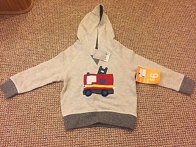 Next Boys Fire Engine 18-24 Months Hoodie. New With Tags
