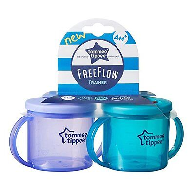 Tommee Tippee Free Flow Trainer Cup, Leak Proof, 6 Ounce, 2 Count (Colors Vary)