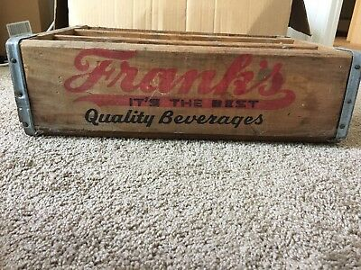 Vintage Franks Quality Beverages Wood Crate