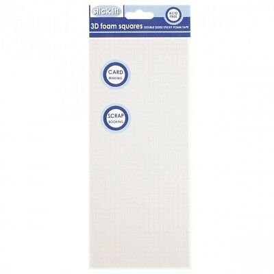 Foam adhesive pads & roll assorted sizes double sided  - round dots & square