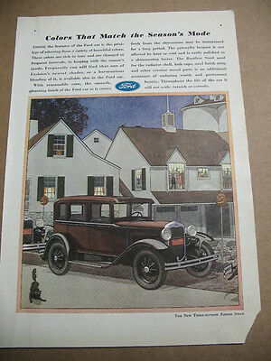 Ford Fordor   The New Three  Window Sedan  1930 Orig. Ad. 8 X 11