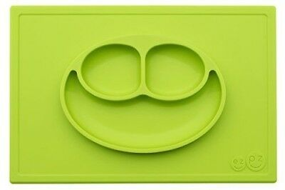 ezpz Happy Mat - One-piece silicone placemat + plate (Lime).