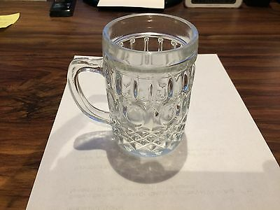 Vintage Clear Glass Coffee Mugs Set of 6 by Kedaung