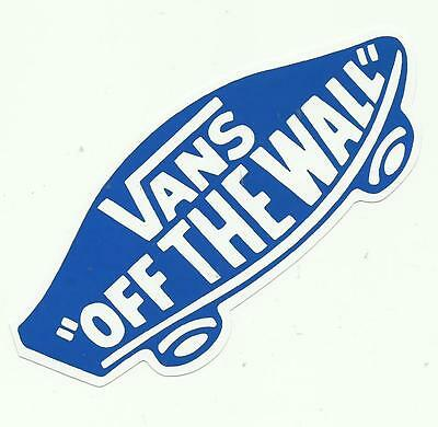VANS  Off The Wall  -  Sticker  BLUE - Snowboard Skateboard BMX Surf