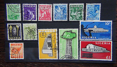 Nigeria 1961 set complete to £1 SG89/101 Fine Used