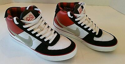 Very Rare Nike 6.0 Mavrk Mid 2007 Authentic Samples White Black Red Plaid 9 SB