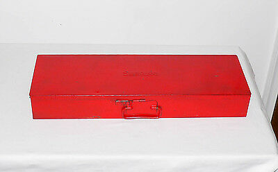 Vintage Snap-On Tool Box w/ Socket Slots, Portable, Hand Carry, 20 x 6.5 x 3
