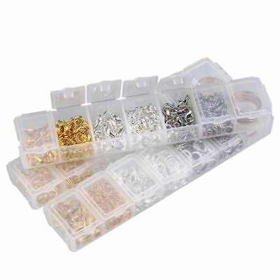 1 box Mixed Sizes Gold Jump Rings Lobster Clasp Jewelry DIY Accessories Kit Box