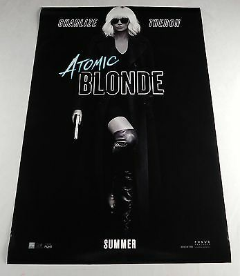 Atomic Blond Official Movie Theater Poster Original 27x40 Charlize Theron Sexy 2