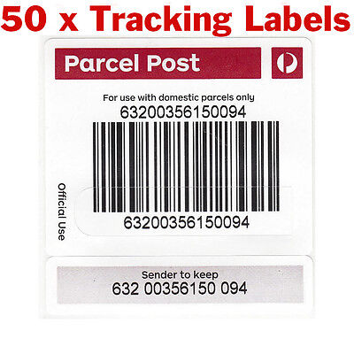 50x Australia Post Tracking Labels Stickers Auspost FREE - Keep Track Of Parcel