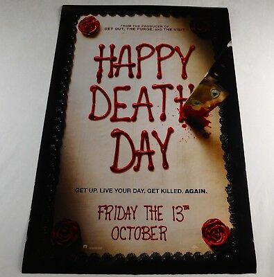 Happy Death Day Official Movie Theater Poster Original 27x40 Jessica Rothe 2017
