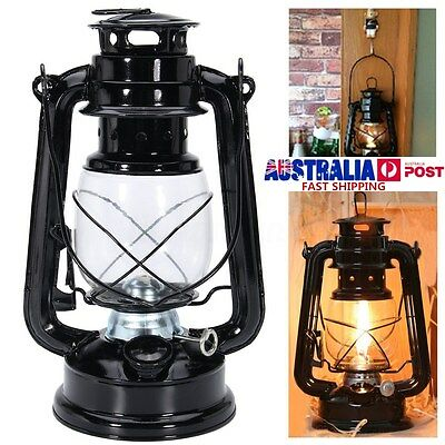 Garden Outdoor Camp Retro Oil Lantern Kerosene Paraffin Hurricane Hanging Lamp