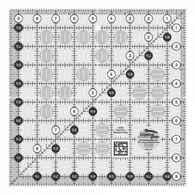 """Creative Grids Quilt Ruler 9.5"""" Square"""