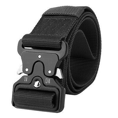 Cool Men Outdoor Hiking Sports Waistband Army Military Nylon Buckle Belt Healthy