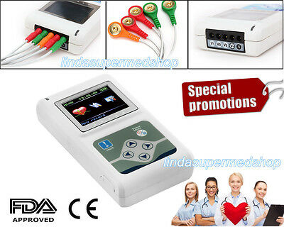 ECG Holter 24 hours 3 Channel ECG/EKG Holter Monitor System,Software 2017 Newest