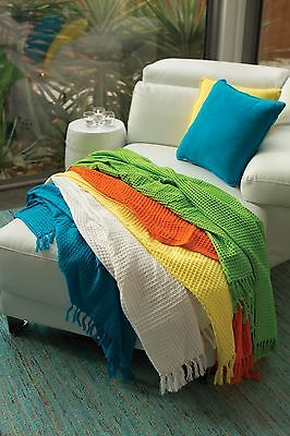 Superior Cotton Waffle Throw Blanket Bed Couch Home Decor Classic Rug 36% OFF