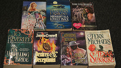 Bulk Lot Of Womens Romance/fiction Books X 7