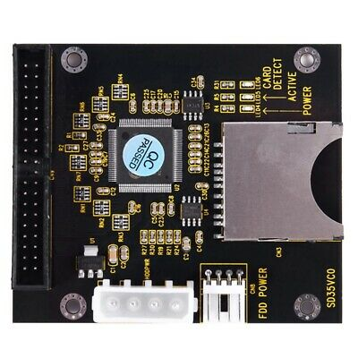 SD SDHC SDXC MMC Card to IDE 40Pin 3.5inch Male Adapter X3J5