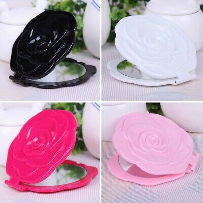 3D Stereo Double Sided Beauty Rose Shape Makeup Compact Cosmetic pocket Mirror