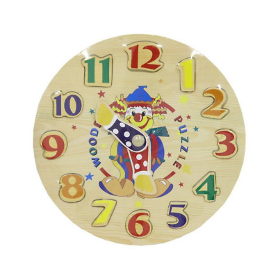 NEW Wooden Clock Puzzle | Toddler Educational Kids Learning Toys | ihartTOYS