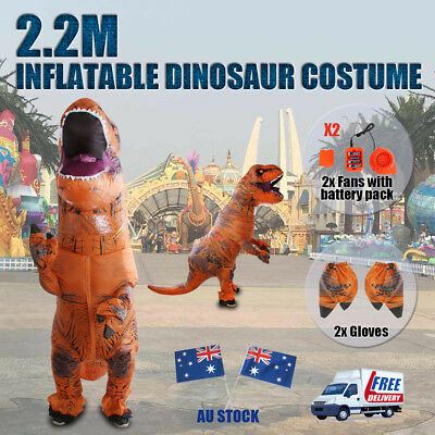 Adult T-Rex Inflatable Dinosaur Costume Jurassic World Park Blowup Dress Outdoor