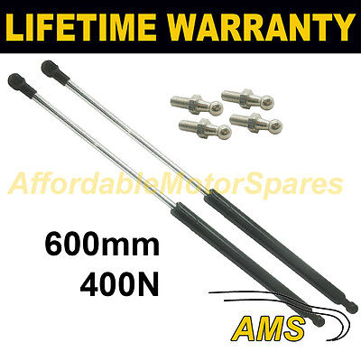 2X Universal Gas Struts Springs Kit Car Or Conversion 600Mm 60Cm 400N & 4 Pins