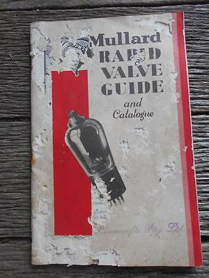 1930  Mullard rapid valve guide catalogue radio valves radios transmission