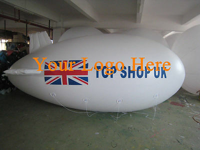10M 32.8ft Giant Inflatable Advertising Blimp /Flying Helium Balloon/Your Logo