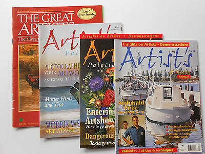 ## ARTIST'S PALETTE MAGAZINE - #6, #18 & ANNUAL - Art PAINTING CRAFT ++ PLUS