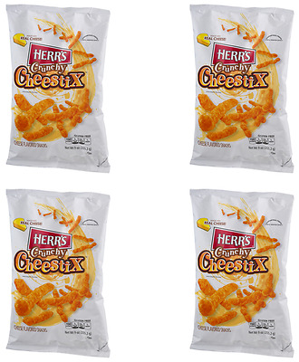 909201 4 x 255.2g BAGS OF HERR'S CRUNCHY CHEESTIX CHEESE FLAVOURED CHIPS! USA