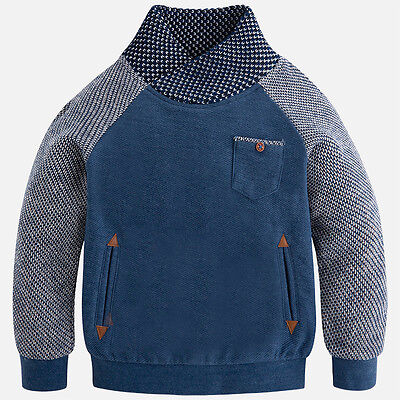 Mayoral Boys Turtleneck Seatshirt in Demin (aged 2 to 8)