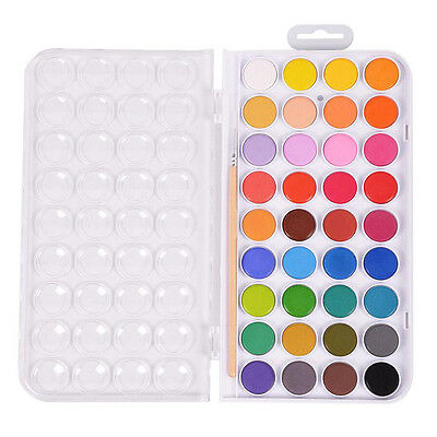36 Colors Fundamental Solid Water Color Pan Artist Dust Cake Pigment Kit Set