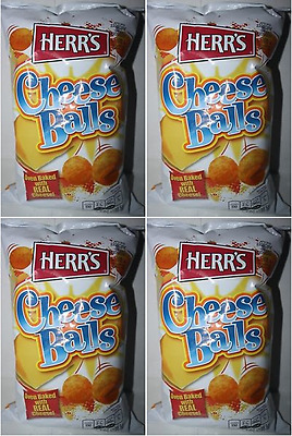 909973 4 x 198.5g PACKETS OF HERR'S CHEESE BALLS OVEN BAKED WITH REAL CHEESE!