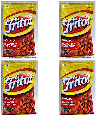 911404 4 x 120g BAGS OF FRITOS' TOMATO FLAVOURED CORN CHIPS MADE FROM REAL CORN!