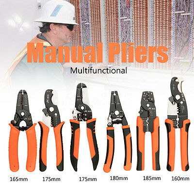 Multifunctional Manual Pliers Home Network Cable Stripper Cutter Holder Crimping