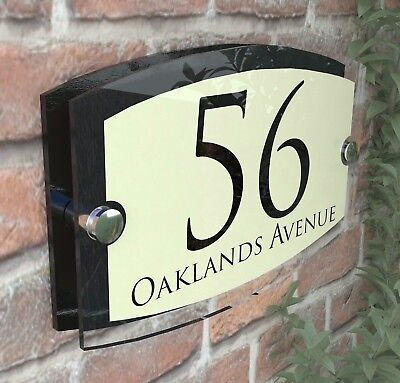 Classic Cream House Signs Plaques Door Numbers 1 - 999 Personalised Name Plate