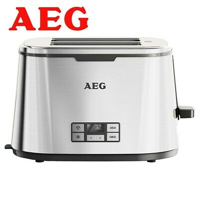 AEG AT7800U Digital 2-Slice Toaster With DigitalVision Timer - Stainless Steel