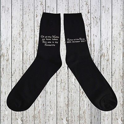 Personalised Socks, Father of the Bride, Special Walk Socks