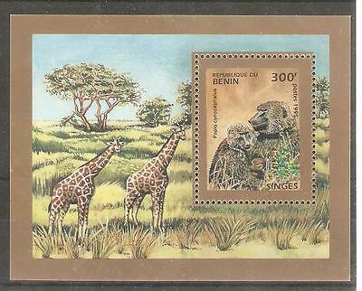 1995   Benin - Sg  Ms 1297 - Yellow Baboons  - Umm