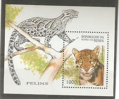 1996   Benin - Sg  Ms 1395 - Big Cats  - Umm