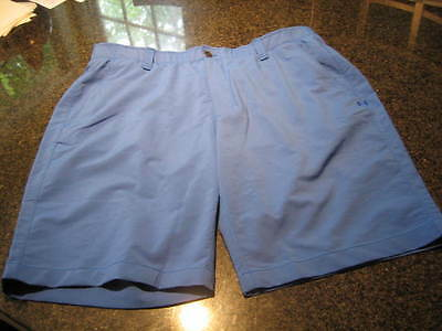 NWT - Mens UNDER ARMOUR Royal Blue Flat Front GOLF Shorts (Size 38)