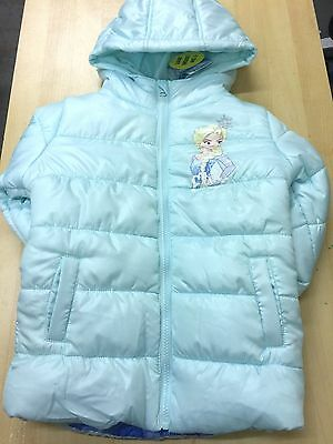 EX Disney STORE GIRLS FROZEN  PRINCESS ELSA HOODED WINTER COAT