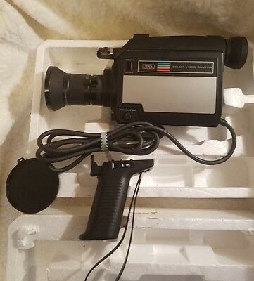 Vintage Sears Color Video Sound Camera 70's or 80's with org box and manual