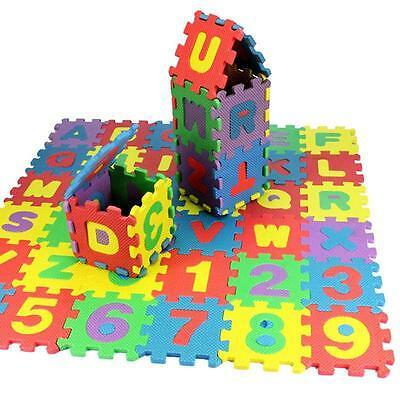 36 pcs Baby Kids Child Alphanumeric Educational Puzzle Blocks Toy Gift Healthy