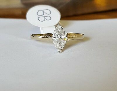 18ct gold solitaire diamond ring 0.78ct