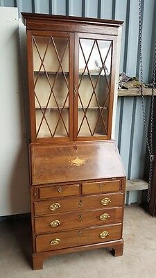 19th Century Mahogany Bureau Bookcase