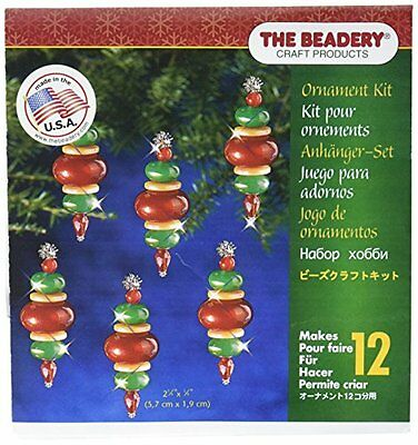 Beadery Plastic Holiday Beaded Ornament Kit Victorian Baubles 2.25-inch x