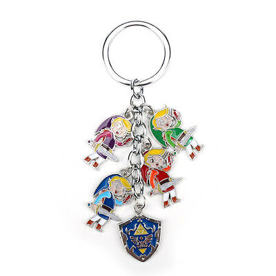 The Legend of Zelda Link Shield Metal Pendant Keychain Keyrings Charm