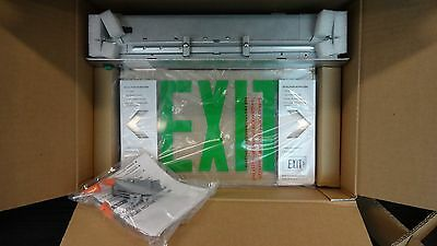 Lithonia Recessed Edgelit Led Emergency Exit - Green