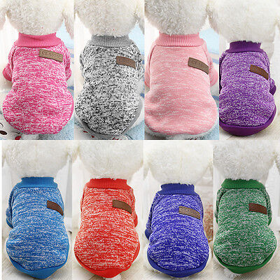 Dog Clothes Puppy Outfit Pet Jacket Coat Soft Sweater Clothing For Small Dogs